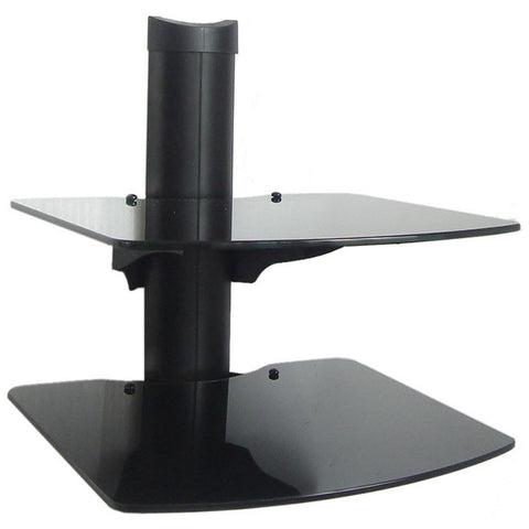 Wall Mount Shelf for XBOX, WII, BLU-RAY, DVD and Components - 2 Tier