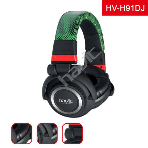 HAVIT HV-H91 DJ studio head phone with 4 speakers inside