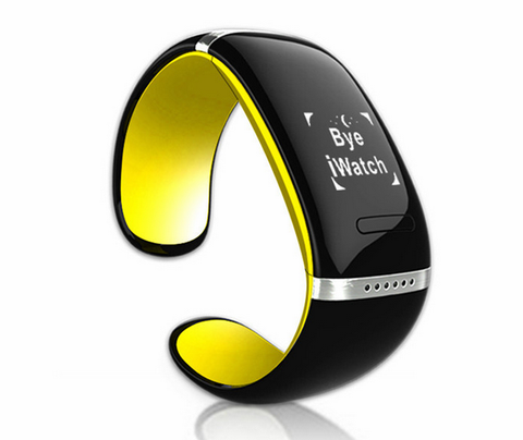 I-Ring Smart Bracelet Watch with Bluetooth 3.0 - Yellow