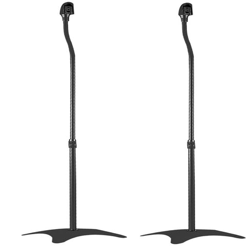 Universal Adjustable Speaker Stands 81cm to 106cm (Pair, Black)