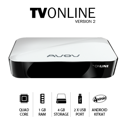 New AVOV TVonline V2 -  IPTV SET-TOP BOX with MickeyHop