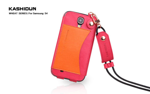 Samsung S4 wheat series of high-grade mobile phone cover - Red Color