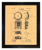 Electric Bell patent print - Man Cave Ideas  - 2