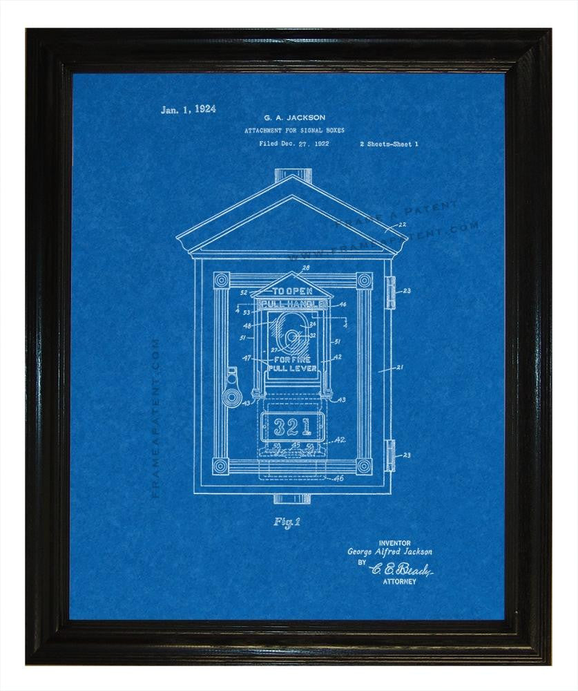 Attachment For Signal Box patent print - Man Cave Ideas  - 3