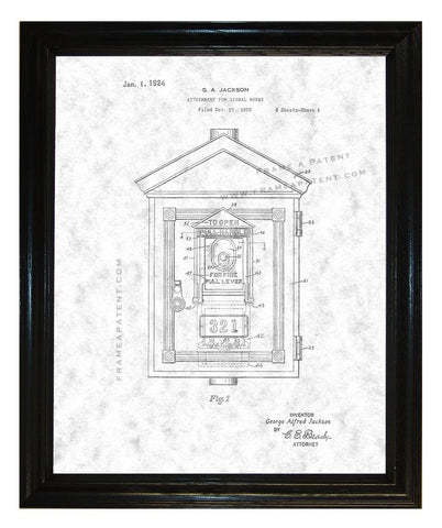 Attachment For Signal Box patent print - Man Cave Ideas  - 1