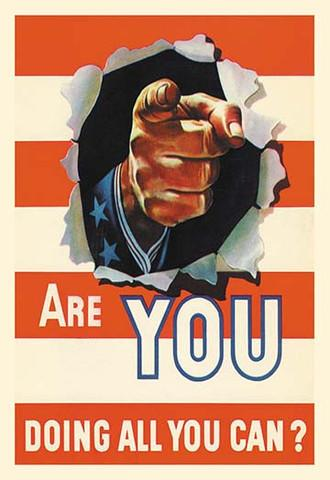 World War 2 'Are You Doing All You Can?' vintage print - Man Cave Ideas