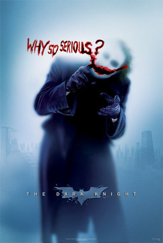 'Why So Serious?' The Dark Knight Film print - Man Cave Ideas