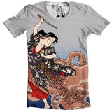Battling the Octopus T-shirt - Man Cave Ideas  - 1