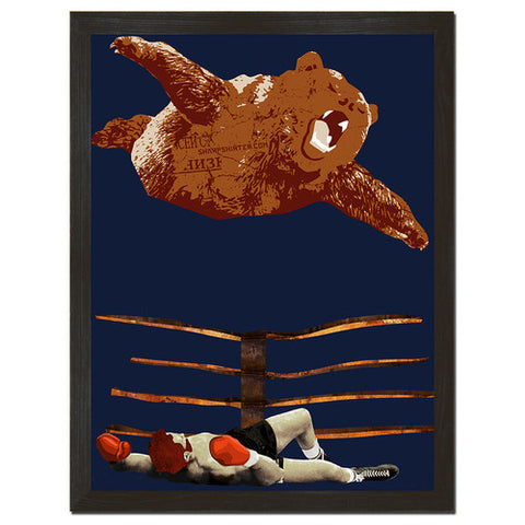 Bear For The Win Print Art - Man Cave Ideas