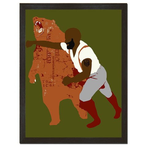 Black Bear Punch Print Art - Man Cave Ideas
