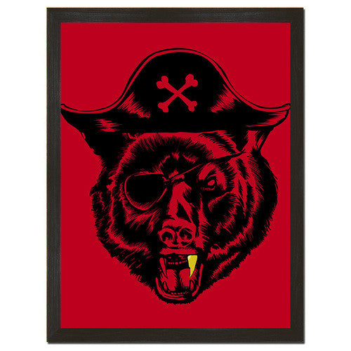 Black Beard Print Art - Man Cave Ideas