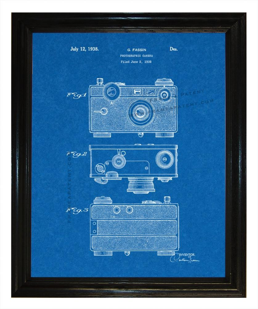 Photographic Camera Patent wall covering - Man Cave Ideas  - 1