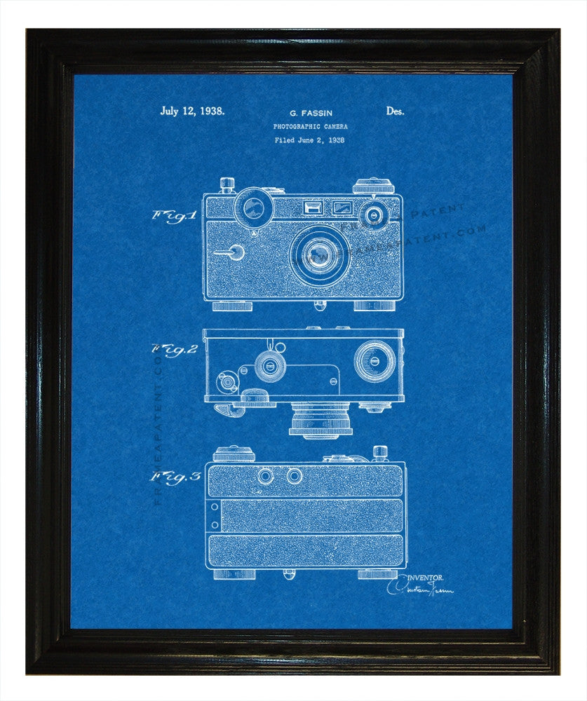 Henry Drotning Camera Patent wall covering - Man Cave Ideas  - 2