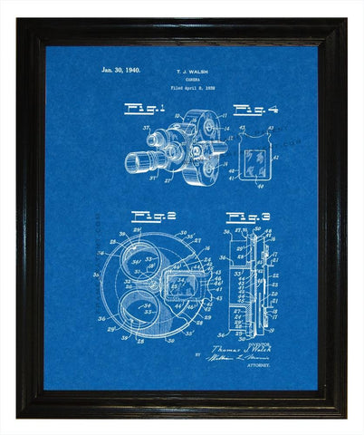 Waish Camera Patent wall covering - Man Cave Ideas  - 1