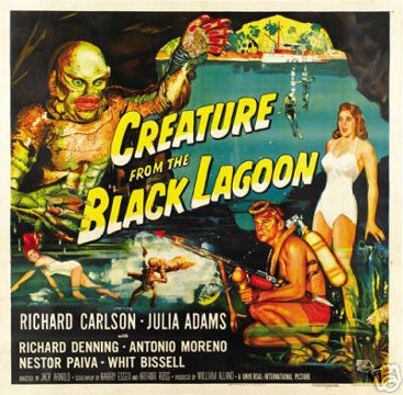 'Creature from the Black Lagoon' Horror Film vintage print (12 x 18) - Man Cave Ideas