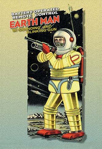 'Earth Man' vintage print - Man Cave Ideas