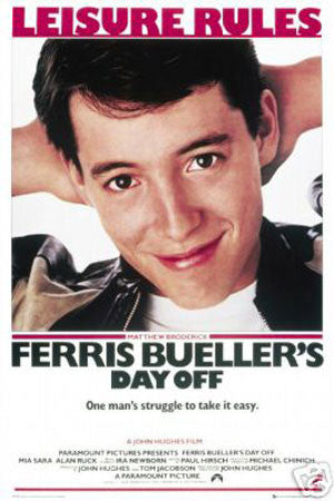'Ferris Bueller's Day Off' Film print - Man Cave Ideas