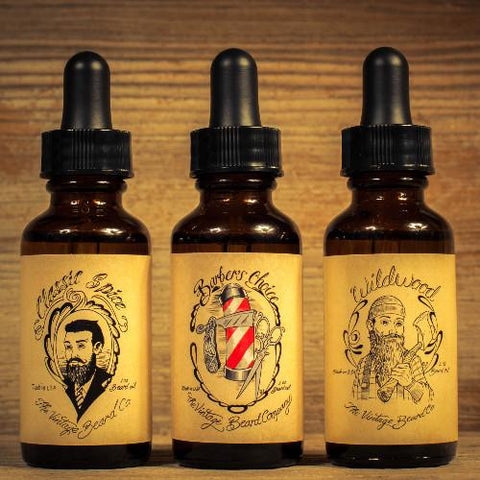 The Gentleman's Beard Oil Trio (1 oz per bottle) - Man Cave Ideas