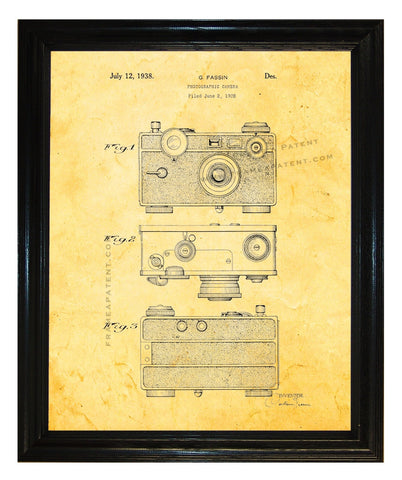 Henry Drotning Camera Patent wall covering | Man Cave Ideas