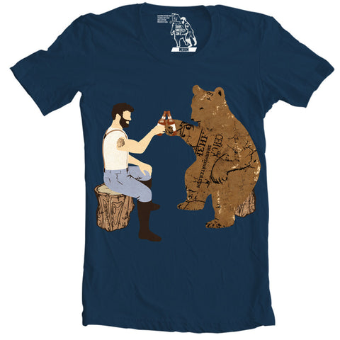 Having A Bear T-shirt - Man Cave Ideas  - 1