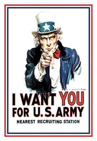 Uncle Sam 'I Want You for U.S. Army' vintage print - Man Cave Ideas