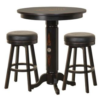 JD® Wood Pub Table & Stool Set - TN Charcoal Finish