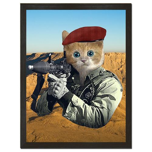 Militia Kitten Print Art - Man Cave Ideas