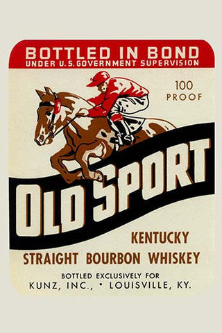 'Old Sport Kentucky Bourbon Whiskey' Advertisement vintage print - Man Cave Ideas