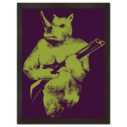 Rhino Hunter Print Art - Man Cave Ideas