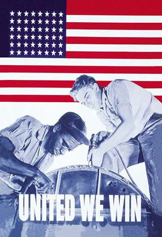 World War 2 'United We Win' vintage print - Man Cave Ideas