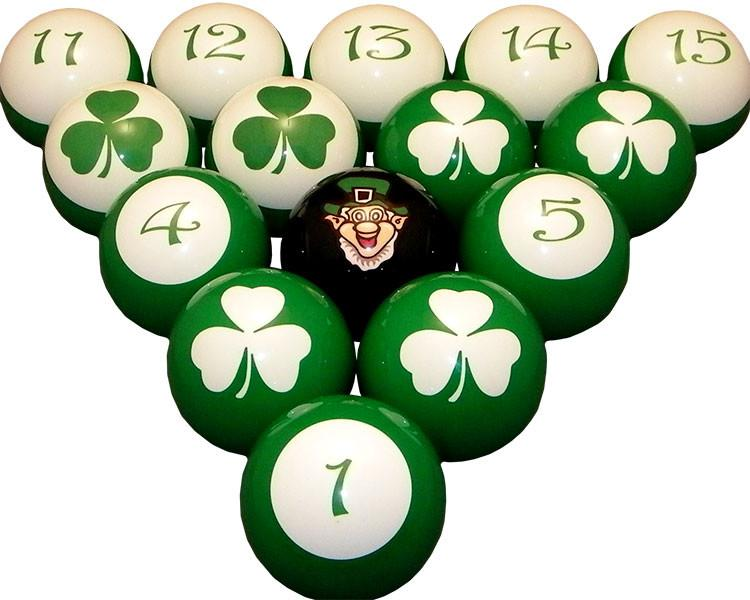 Luck of the Irish Pool / Billiard Ball Set - Man Cave Ideas