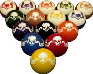 Skull and Wings Pool / Billiard Ball Set - Man Cave Ideas