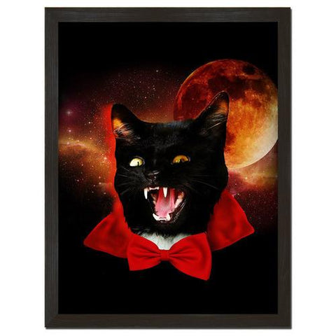 Vampire Cat Print Art - Man Cave Ideas