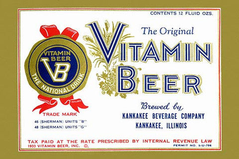 'Vitamin Beer' vintage print - Man Cave Ideas