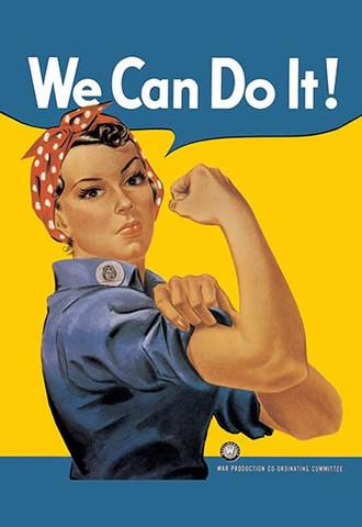 World War 2 'We Can Do It!' vintage print - Man Cave Ideas