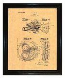 Waish Camera Patent wall covering - Man Cave Ideas  - 2