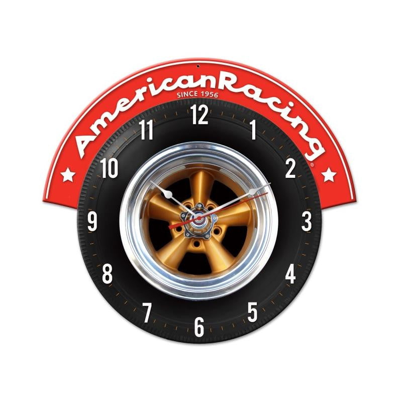 American Racing Tire Clock - Man Cave Ideas