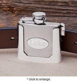 Personalized Belt Buckle Flask