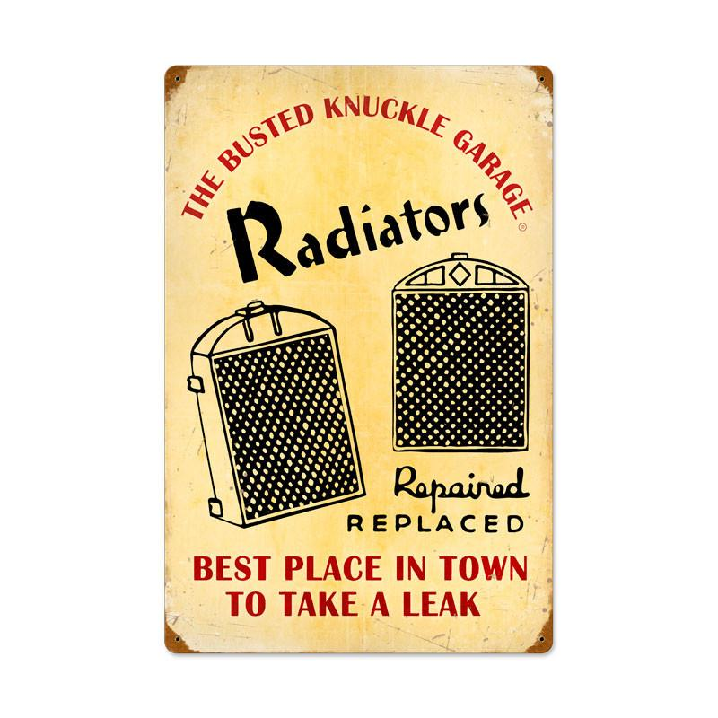 Radiator Service Metal Sign - Man Cave Ideas