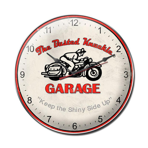 Vintage Motorcycle Clock - Man Cave Ideas