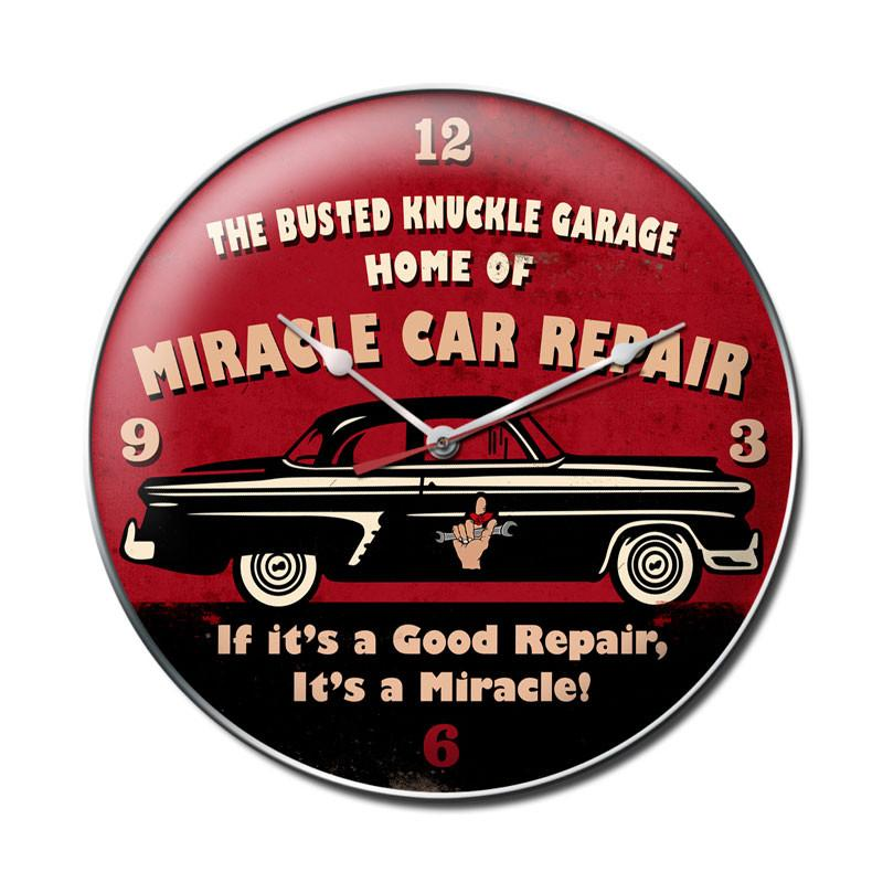 Miracle Car Repair Clock - Man Cave Ideas