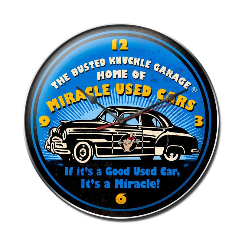 Miracle Used Cars Clock - Man Cave Ideas
