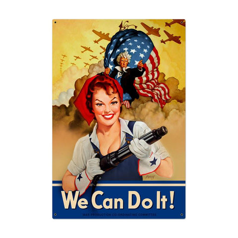 We Can Do It Metal Sign - Man Cave Ideas