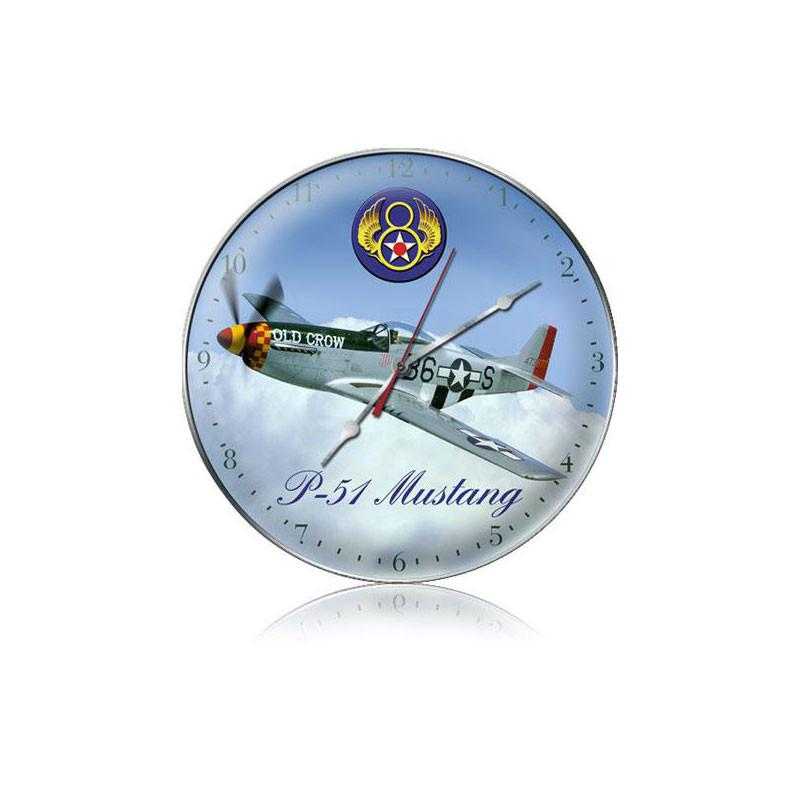 P-51 8th Airforce Clock - Man Cave Ideas
