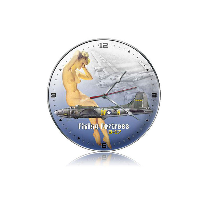 B-17 Nude Clock - Man Cave Ideas