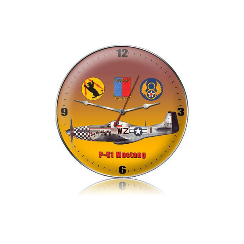 P-51 Tags Clock - Man Cave Ideas