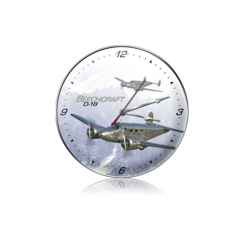 D-18 Beachcraft Clock - Man Cave Ideas
