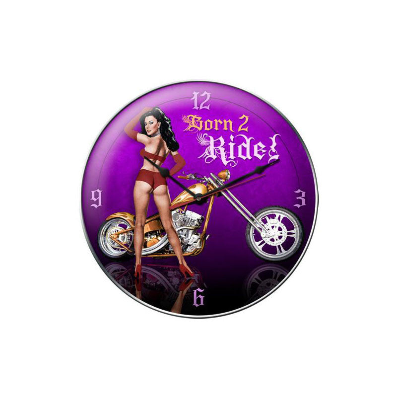 Born 2 Ride Clock - Man Cave Ideas