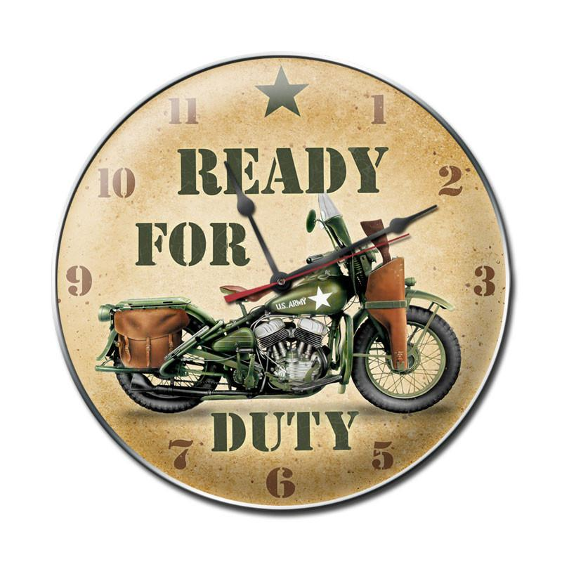 Ready for Duty Clock - Man Cave Ideas