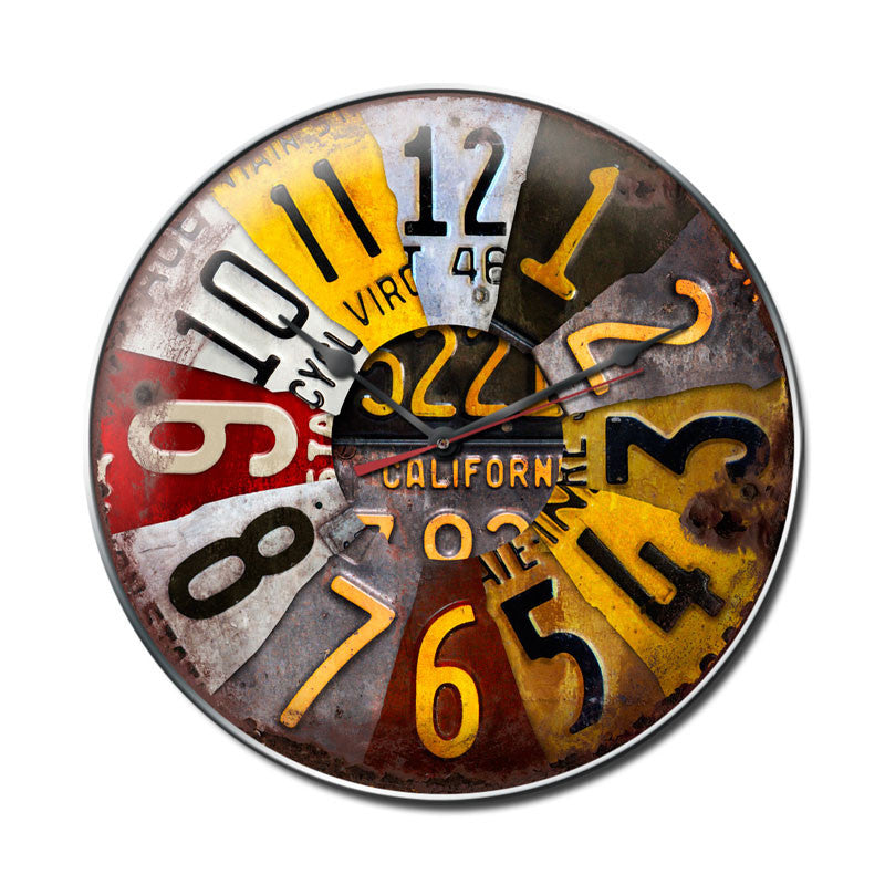 License Plate Clock - Man Cave Ideas